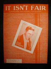 It Isnt Fair Sheet Music Vintage 1933 Benny Goodman Richard Himber Sprigato (O)