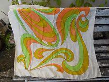 Ancien foulard vintage décor 1970 Pure soie