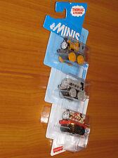Dash Scruff James: Thomas the Tank Engine & Friends Mini Train 3 Pack Set NEW!