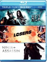 JONAH HEX - THE LOSERS - NINJA ASSASSIN (Triplo Film on Bluray) Nuovo