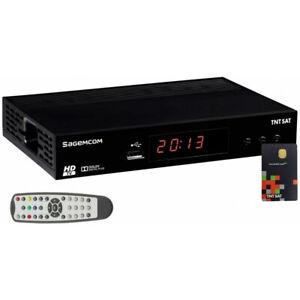 SAGEMCOM Récepteur TV Satellite HD + Carte d'accès TNTSAT V6 Astra 19.2E -
