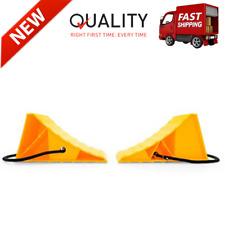 Pack Of 2 Heavy Duty Wheel Chocks Truck Rv Camper Trailer Car Tire Stopper Block