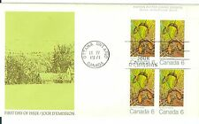 Bargains Galore Canada #535 6c Spring Maple Leaf blk 4 unaddress cacheted Fdc