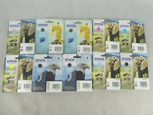 10 x Epson Printer Ink Cartridges Various Models & Colours Unopened EXPIRED INK