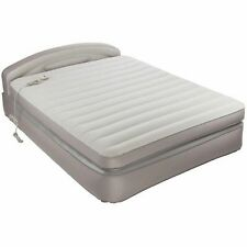 "AEROBED COMFORT ANYWHERE 18"" QUEEN AIR MATTRESS WITH HEADBOARD DESIGN New"