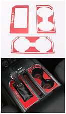 11pcs Aluminum Car Gear+water cup holder Frame trims for Ford F150 2016 Red