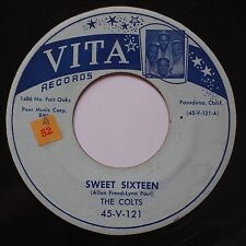 THE COLTS: Sweet Sixteen VITA DOO WOP rare SCARCE 45 VG+