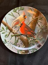Edwin M. Knowles Collector Plate 15383D The Cardinal With Original Box