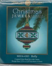 Holly Christmas Jewels Ornament by Mill Hill Bead Kit
