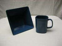 Blue Plastic Melamine Breakfast Cereal Combo Bowl & Cup