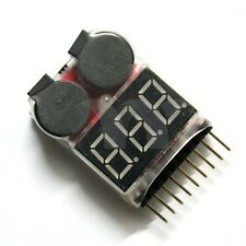 RC 1-8s Lipo Battery Tester Monitor Low Voltage Buzzer Alarm Voltage Checker