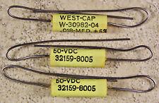 3 West-Cap .018uf 50VDC +/-5% Polyester Film Guitar Tone Capacitors - NOS