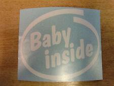 """""""Baby Inside"""" Bumper/Window Sticker - Intel style Vinyl Decal"""