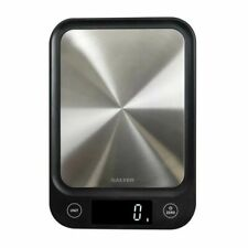 Salter 1068 SSBKDR Ultra Slim Digital Kitchen Scale - Stainless Steel/Black