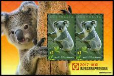 2017 Koalas Minisheet China Expo MUH Mint Stamps Australia