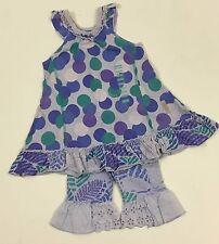 Naartjie NWT 12-18 Purple Beach Ball Dress Tropical Island Eyelet Capri Outfit