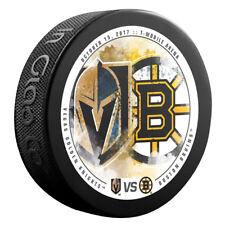 Vegas Golden Knights vs Boston Bruins NHL Matchup Hockey Puck 10/15/17