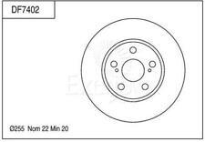 TOYOTA PRIUS NHW20R 1.5L MPFI Electric Hybrid 4cyl Auto CVT 5dr front disc rotor