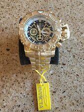 Invicta Sea Hunter 70mm Full Sized Swiss 18kt Gold Plated. W/ 8-Slot Dive Case