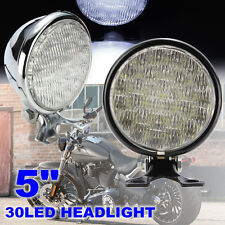 5'' Motorcycle 30LED Hi/Lo Round Head light Spot Lamp For Harley Yamaha Honda