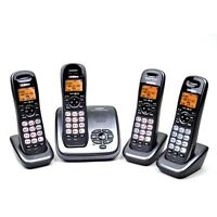 Uniden DECT 6.0 Digital Cordless Phone Set w/Answering System, 4 Handsets & Call