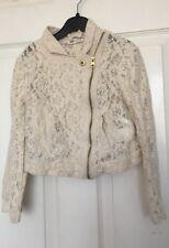 Girls H & M Smart Lace Cropped Jacket Age 6-7 yrs