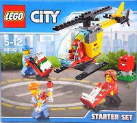 LEGO 60100 Flughafen Starter Set 4 Figuren Hubschrauber Sackkarren Zubehör NEU