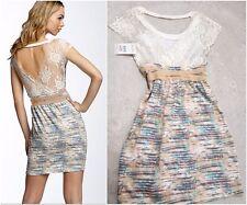 Free People Barracuda Lace Open Back T-Shirt Dress sz XS NWT