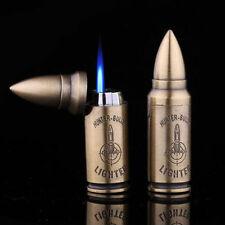 Metal Bullet Shaped Refillable Butane Gas Windproof Flame Cigarette Lighter Gift