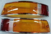 Heckleuchtengläser Rücklichter silberner Rand passend für Porsche 911 Bj. 69-73