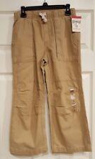 NWT Oshkosh Boy's Cargo Pants Drawstring Waist Brown Khakis Size 7 Retail $28.00