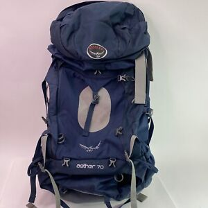 Osprey Aether 70 Hiking Outdoor Backpack - Blue