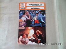CARTE FICHE CINEMA 1988 VOYAGEUR MALGRE LUI William Hurt Kathleen Turner G.Davis