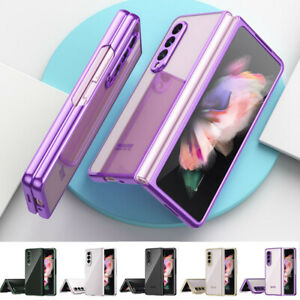 For SamsungGalaxyZFold35G Shockproof Transparent Thin Fold Phone Case Cover