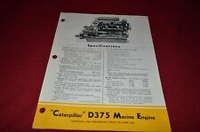 Caterpillar D375 Marine Engine Dealers Brochure MISC3