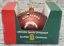 SAN DIEGO CHARGERS NFL Football SCOTTISH CHRISTMAS Ultimate Sports ORNAMENT