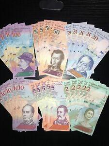 Venezuela Banknotes (30 Banknote Lot) Bolivare/ New Unc/World Paper Money/Bundle