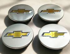 4Pcs 58mm Matte Silver Wheel Center Hub Caps Emblem Logo For Chevrolet #9594156
