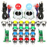 Arcade DIY Kit Mame Raspberry Pi Games 2 Arcade joystick + 20 Chrome LED Buttons