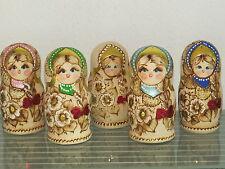 Babuschka Matroschka Matrjoschka Matruschka russische Puppen 5 teilig 5 tlg