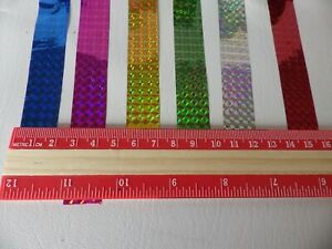 Holographic Prism Sticky Gift Wrap Tape 10 metres x 18mm:  set  of 6 Colours