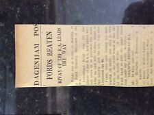 M3-9b ephemera 1941 dagenham ww2 cricket report fords v r a training regiment