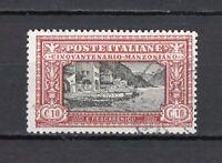 #990 - Regno - 10 cent Morte di Alessandro Manzoni, 1923 - Usato