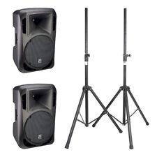 2x 15 A 15î 620 W Altavoz Activo Studiomaster Discoteca DJ Sistema de sonido soportes Inc