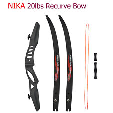 Nika Brotherhood Bow Recurve Bow 20lbs for Archery Hunting Ilf Competition Style
