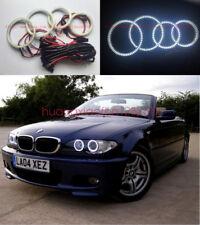4pcs LED SMD 7000K Angel Eyes kit Halo Rings For BMW 3 Series E46 325ci 330ci