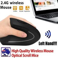 Optical 2.4G Wireless Ergonomic Vertical Left hand Mouse 1600DPI 6D Gaming Mice