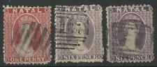 SOUTH AFRICA / NATAL QV 1863-65 CROWN CC USED
