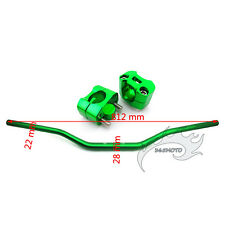 "Green Fat Handle Bar 1 1/8"" Taper Risers Clamp Dirt Pit Bike ATV Quad Motocross"