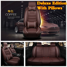 PU 5-Seat Full Set Deluxe Car SUV Seat Covers Cushions For Interior Accessories